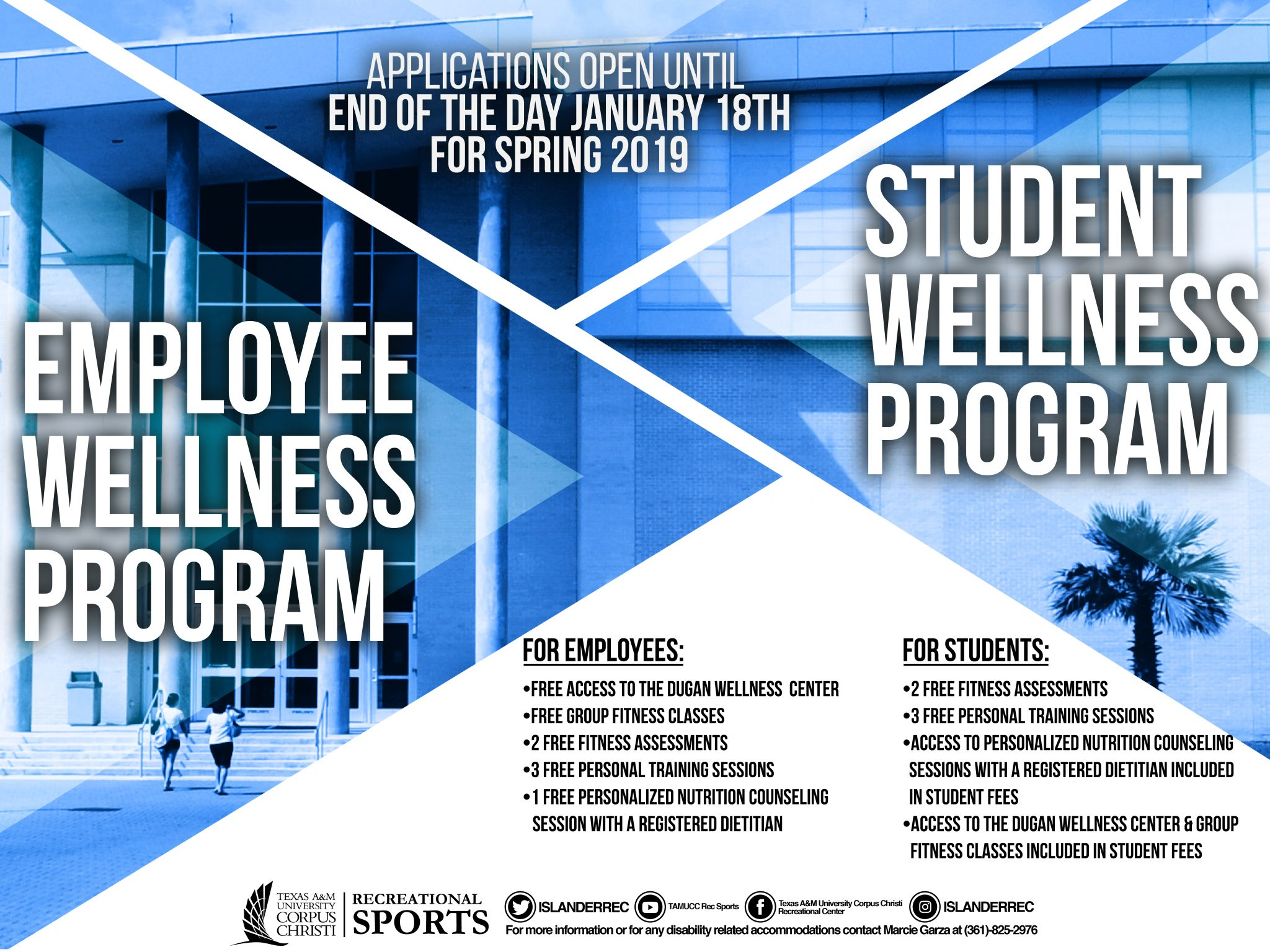 Spring 2019 Student and Employee Wellness Program Information
