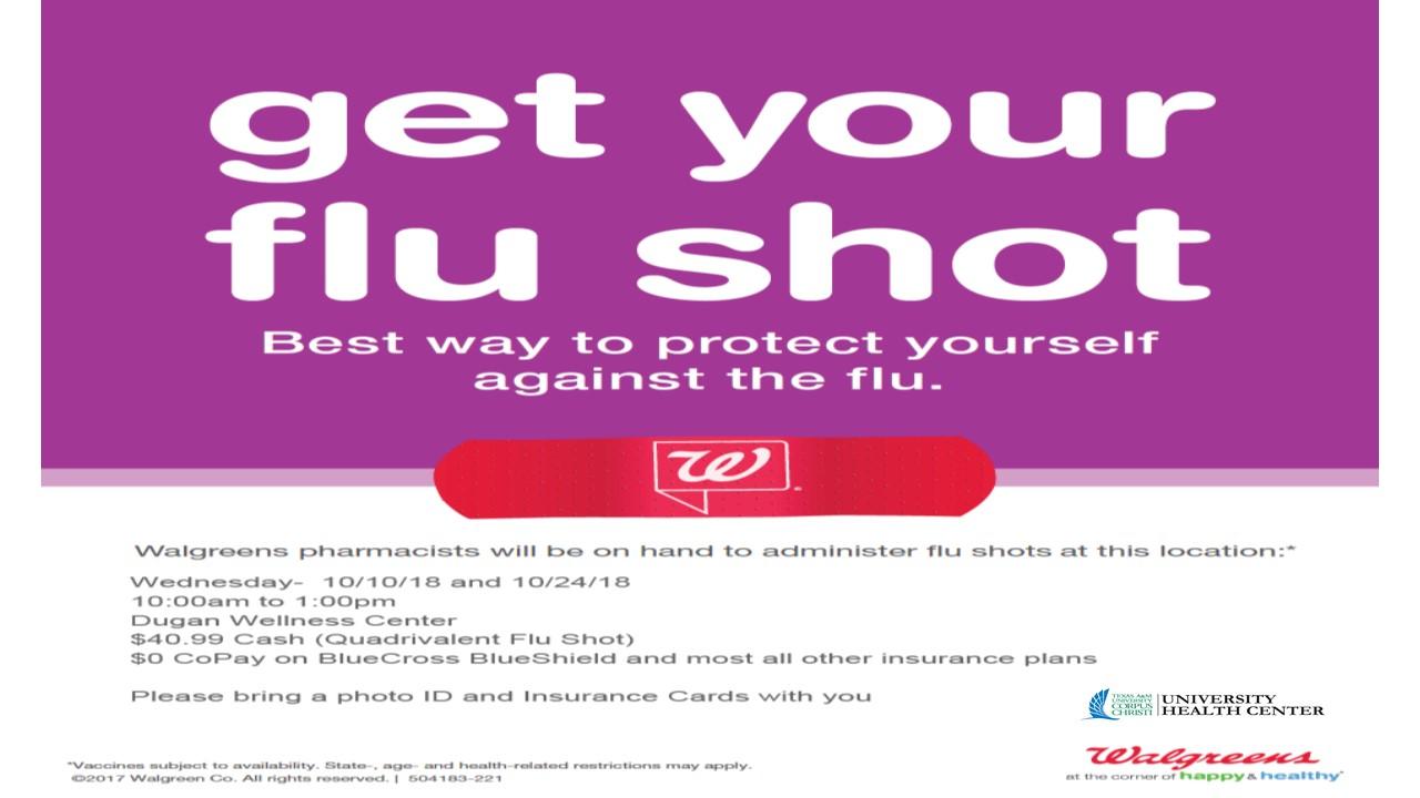 Walgreen's Flu Shot Clinics - October 10th and 24th