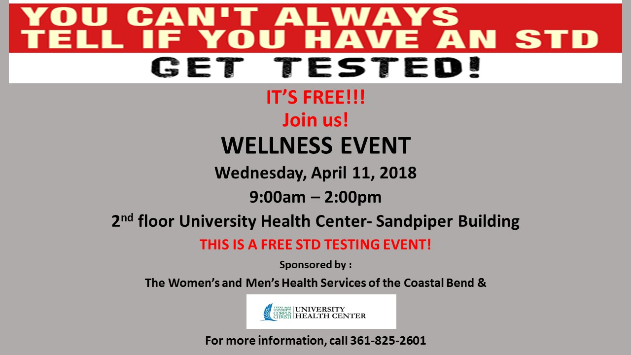 April Free Std Testing Event Tabling Event Texas A M University