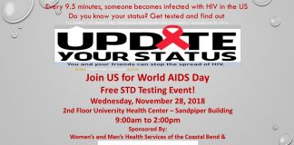World AIDS Day! Free STD testing event - Nov 28th from 9am to 2pm