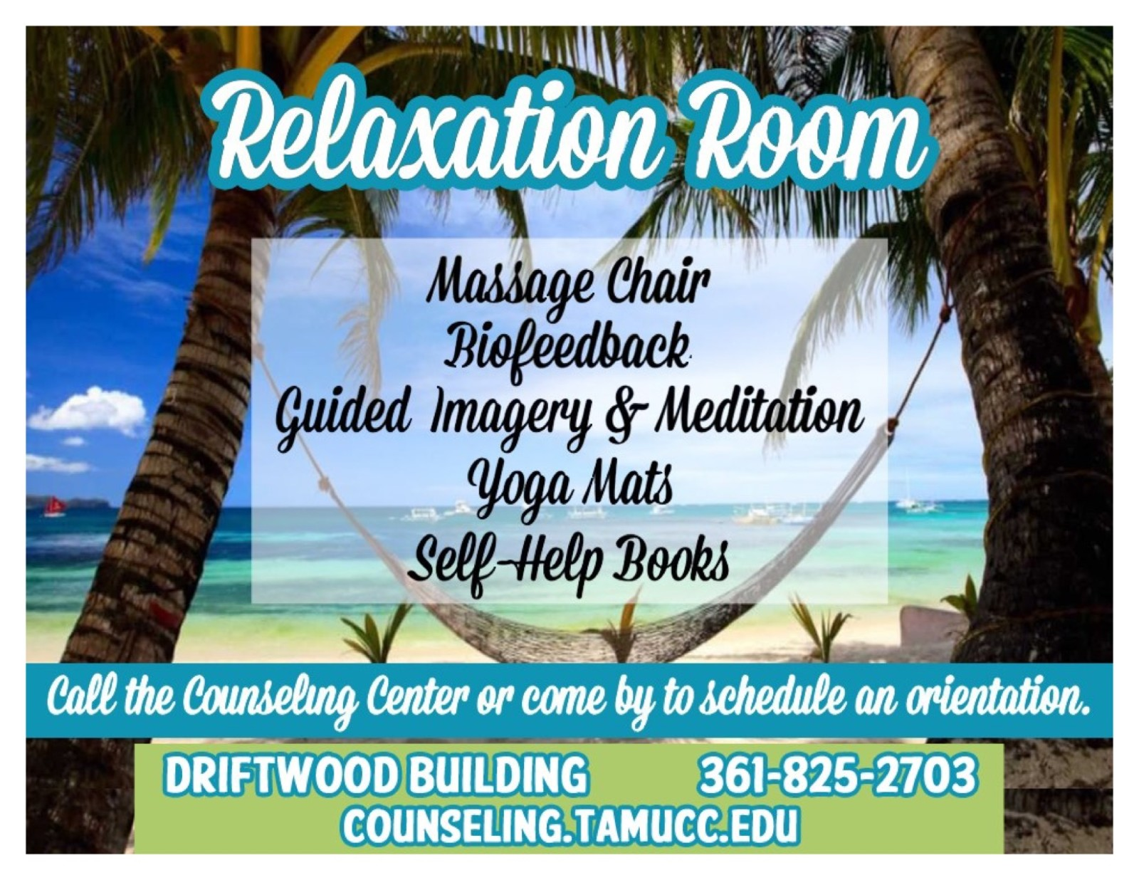 Relaxation room flyer