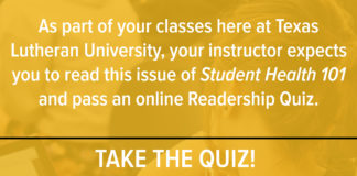 Texas Lutheran readership quiz