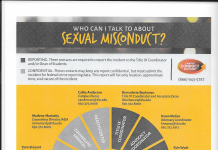 Who to Contact About Sexual Misconduct