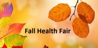 Fall Health Fair with fall colorful leaves