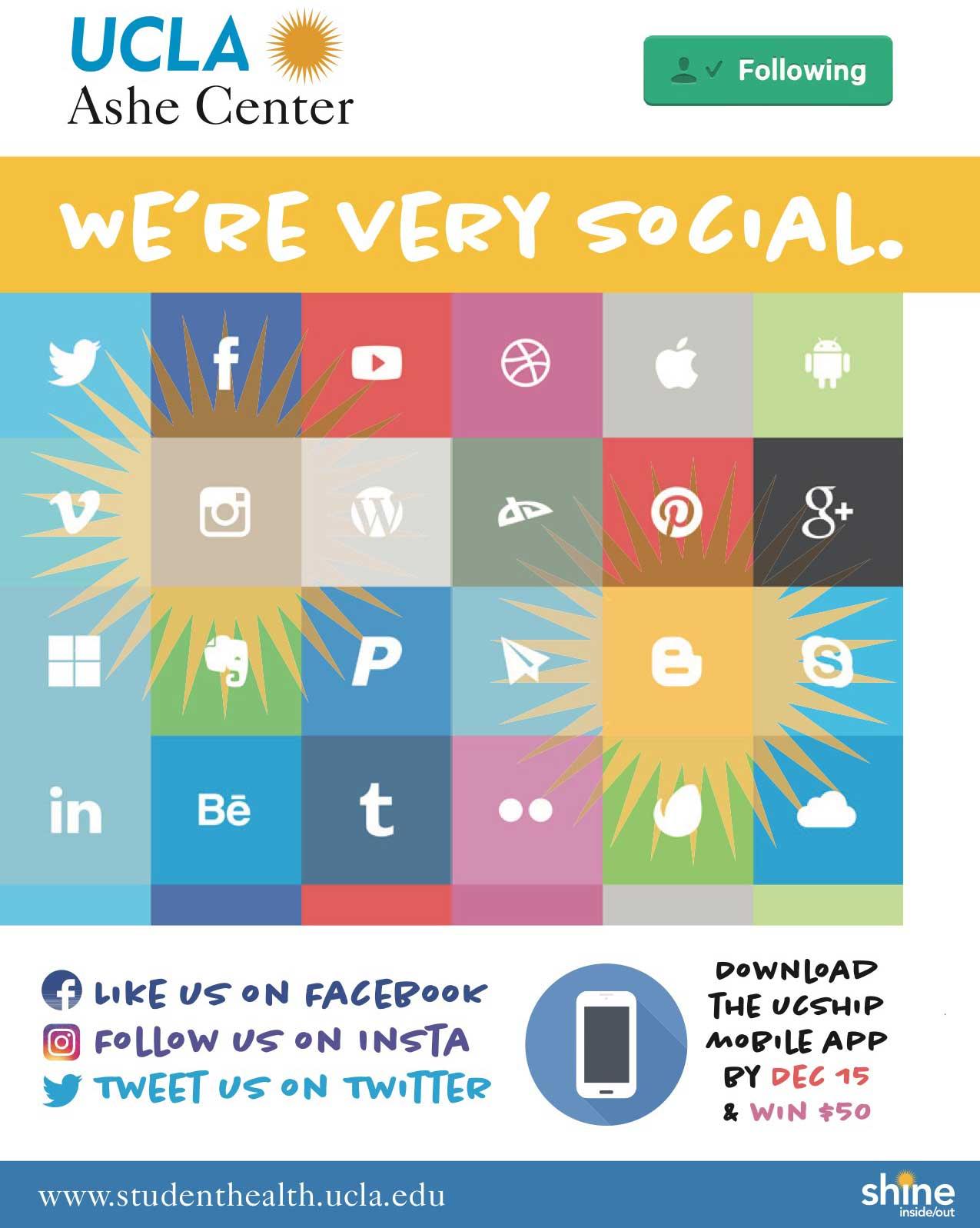 Ashe Center Social Media