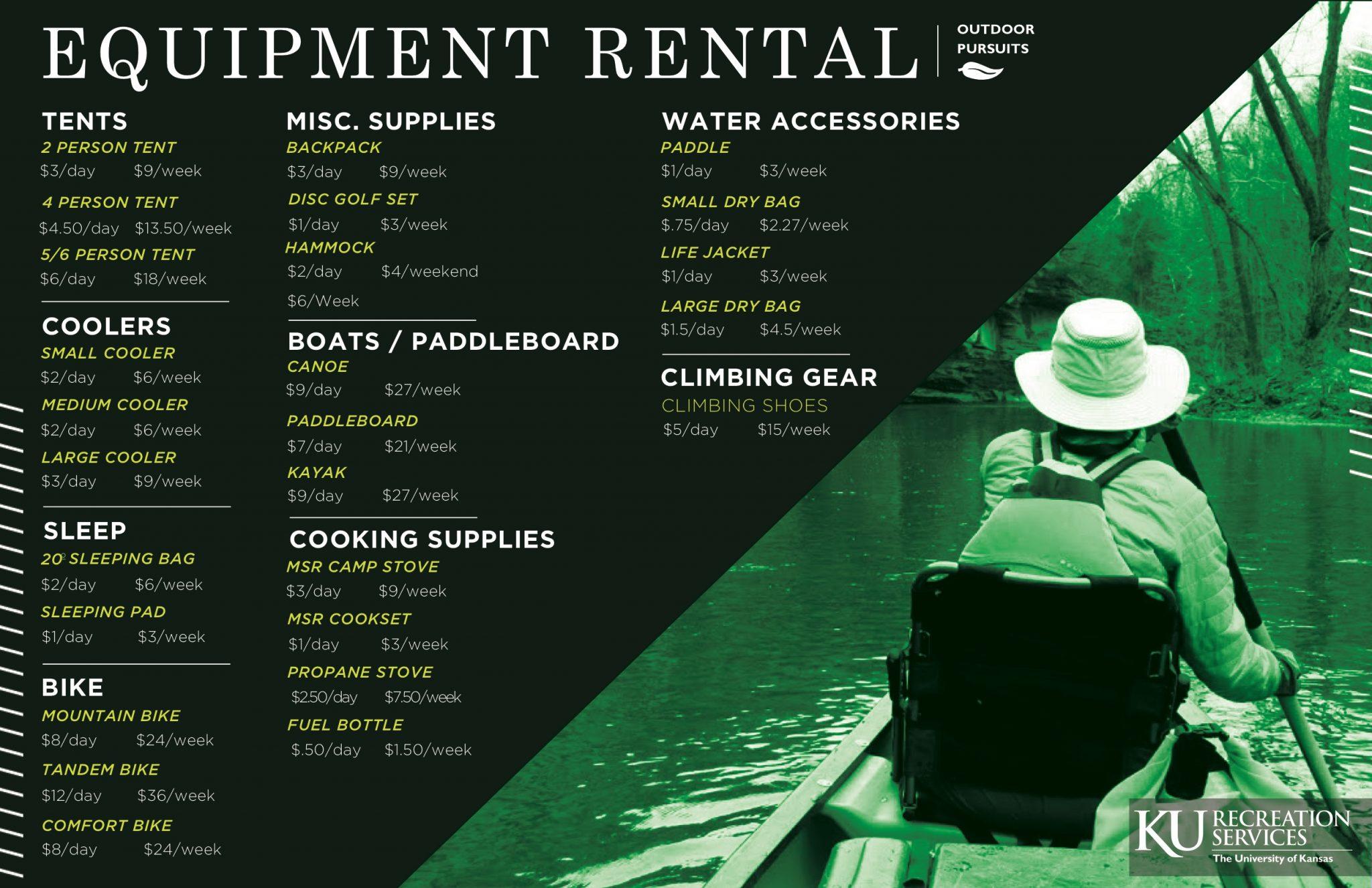 Rent Outdoor Adventure Equipment