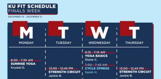 KU Fit Finals Week Schedule
