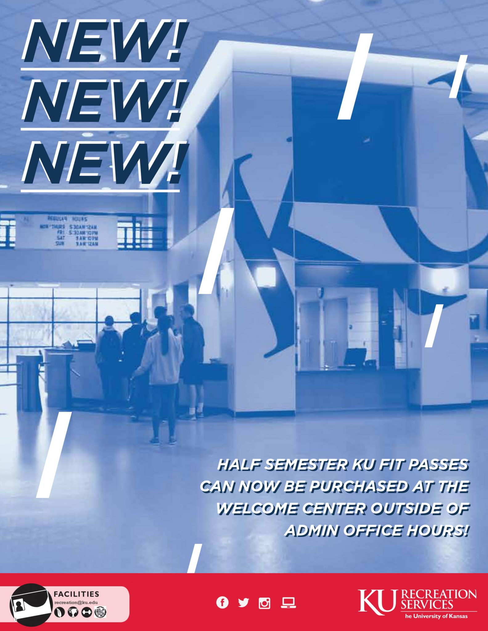 Purchase KU Fit Pass at Welcome Center