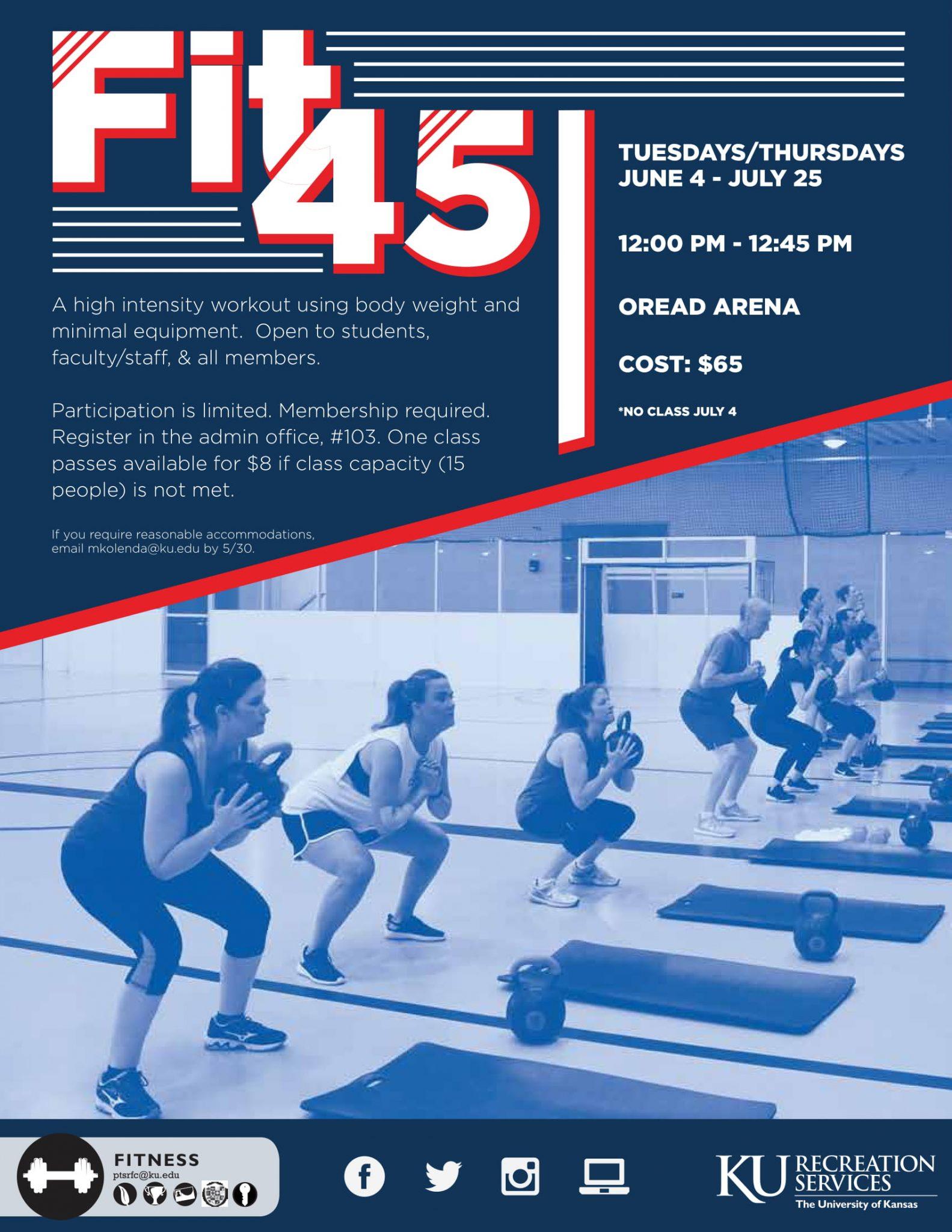 Fit45: A Summer Workout Class