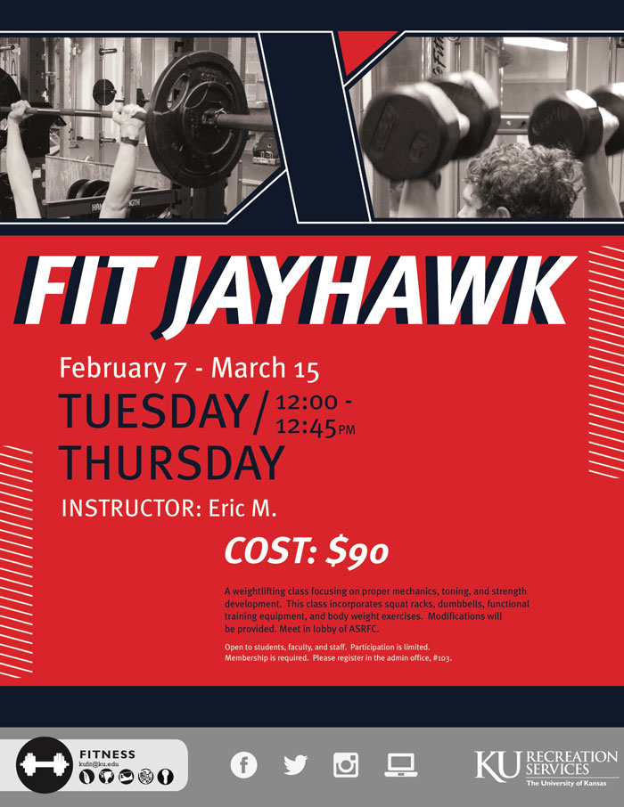 Fit Jayhawk: New Weight Lifting Class
