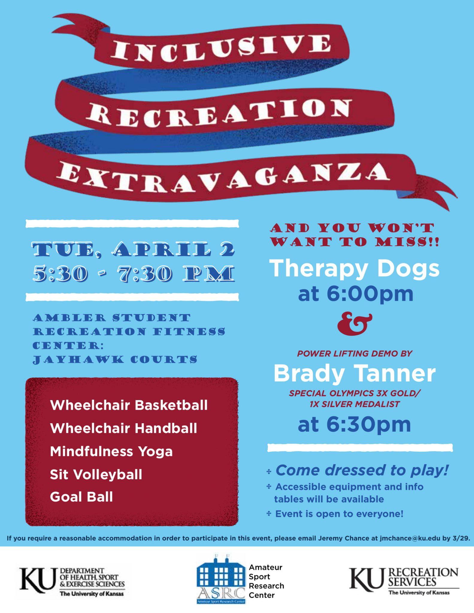 Inclusive Recreation Extravaganza