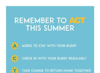 Remember to ACT THIS SUMMER A C T Agree to stay with your buddy Check in with your buddy regularly Take charge to return home together @KUJBS
