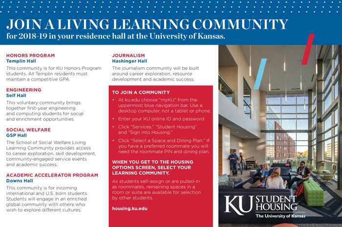 Join a Student Housing Learning Community next year
