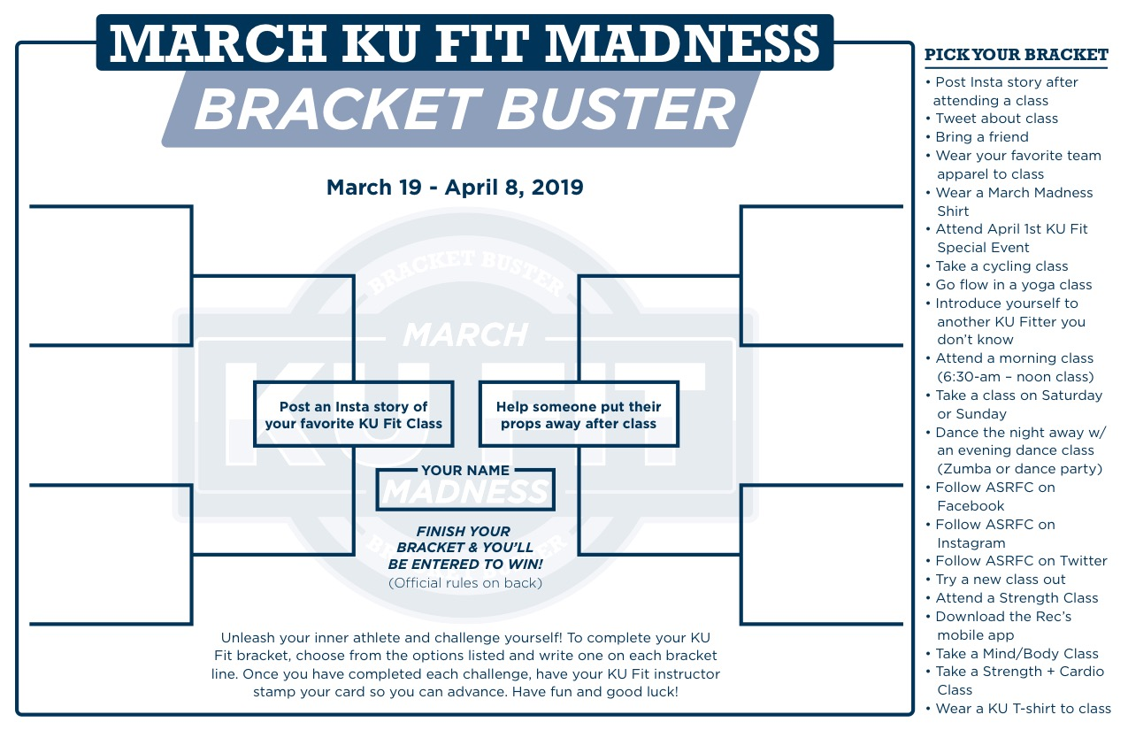 March KU Fit Madness Bracket Page 1