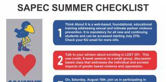SAPEC Summer Checklist