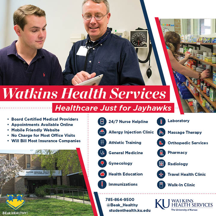 Watkins Health Services: Healthcare just for Jayhawks