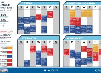 KU Fit Group Exercise Schedule