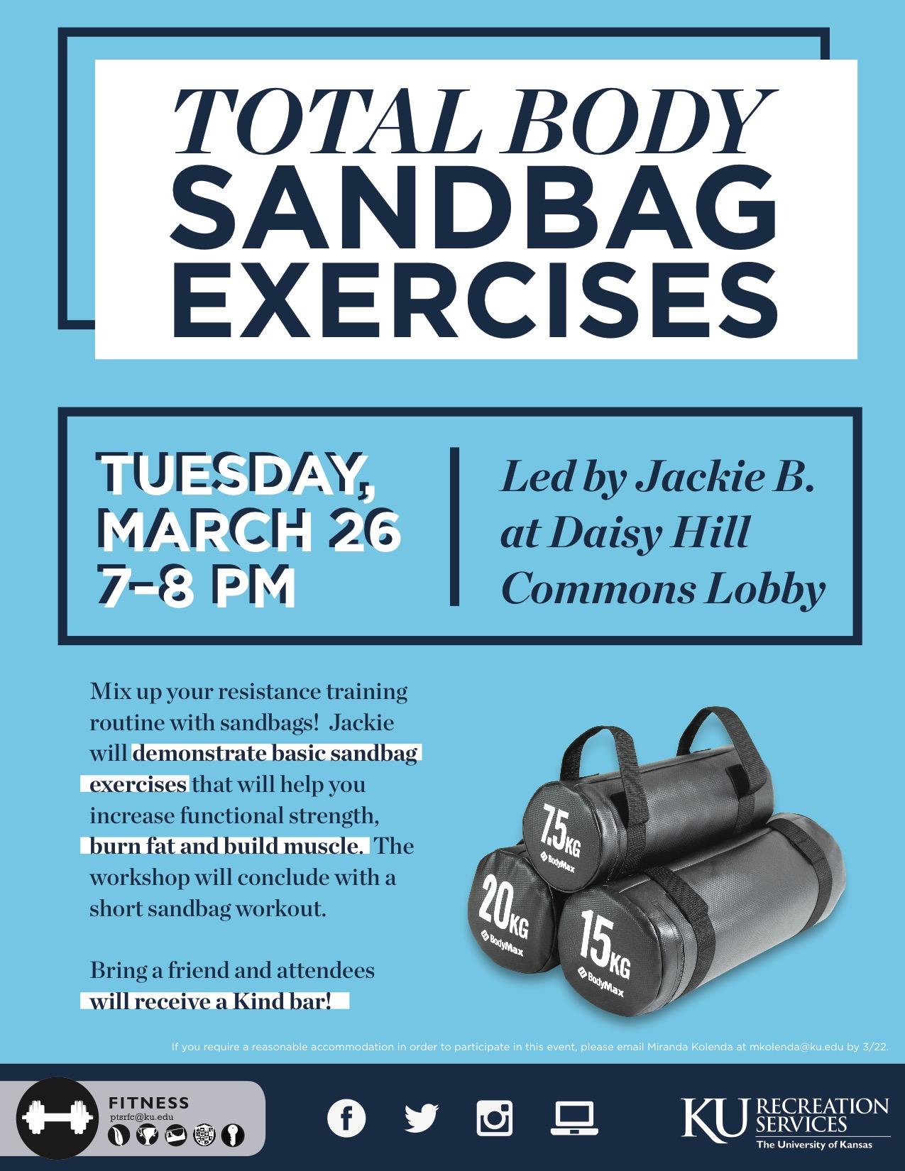 TotalBodySandbag Exercise