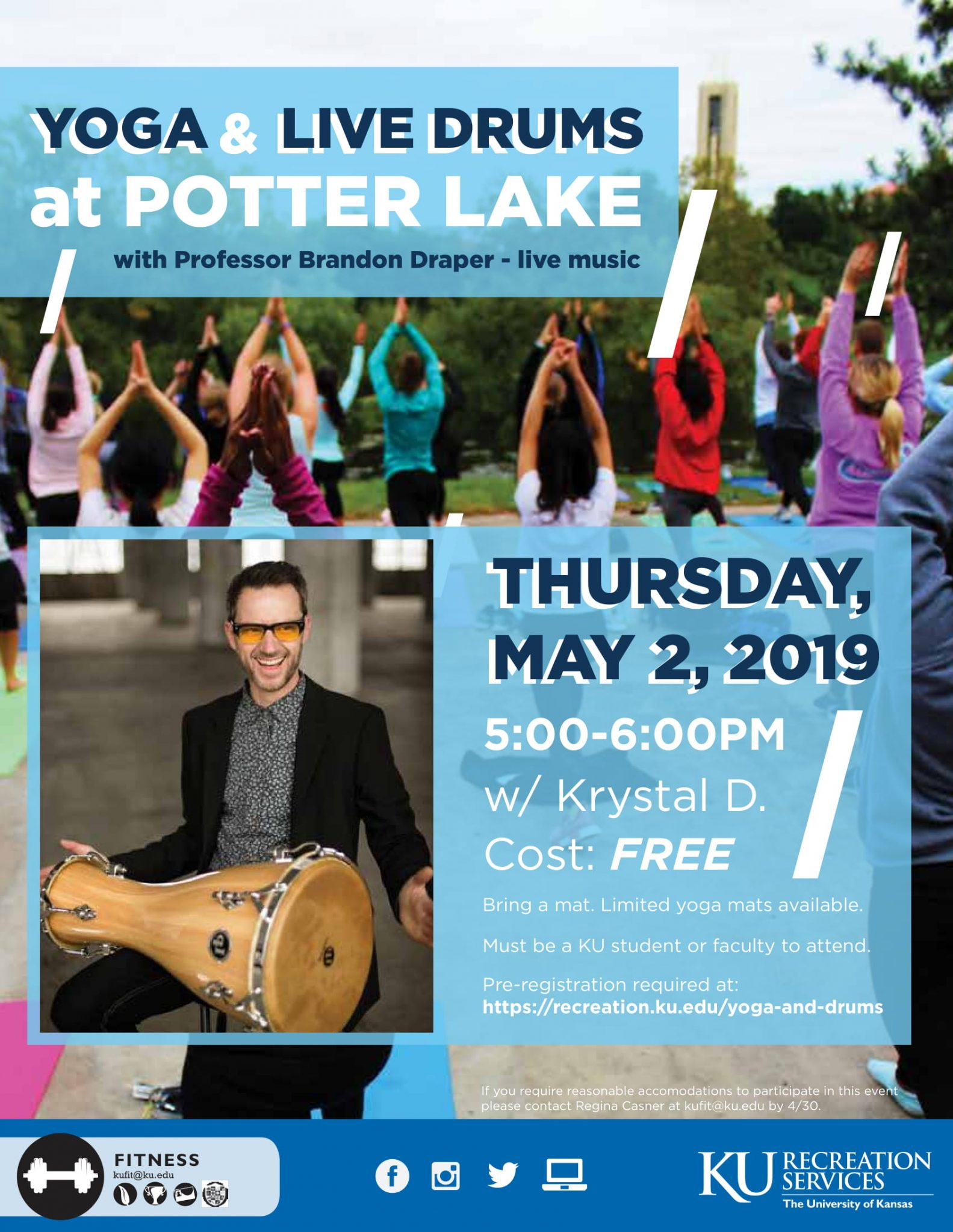 Yoga & Live Drums at Potter Lake