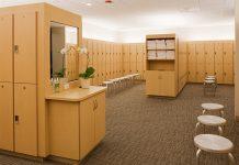 Stock photo of locker room