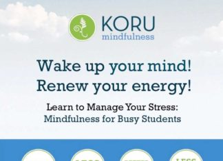 KORU Mindfulness To learn more or to register email: Koru@umb.edu or click here.
