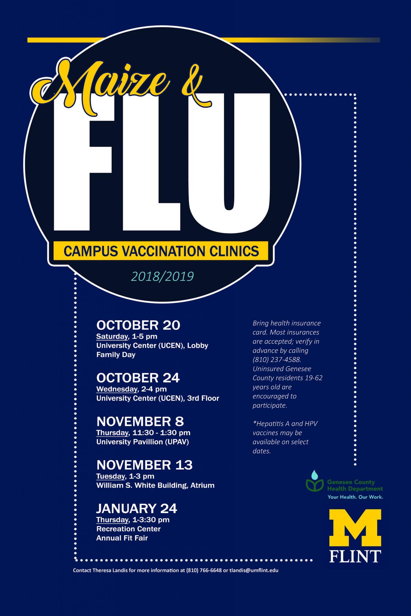 Maize & Flu vaccination dates