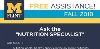 Winter 2019 schedule for ASK THE NUTRITION SPECIALIST