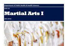 HCR 112 Martial Arts I CRN 19745