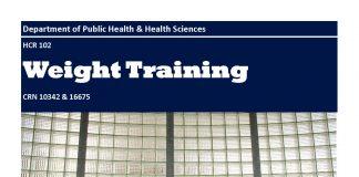 HCR 102 Weight Training CRN 10342