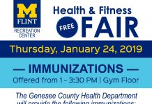 Immunizations at Health and Fitness Fair 2019