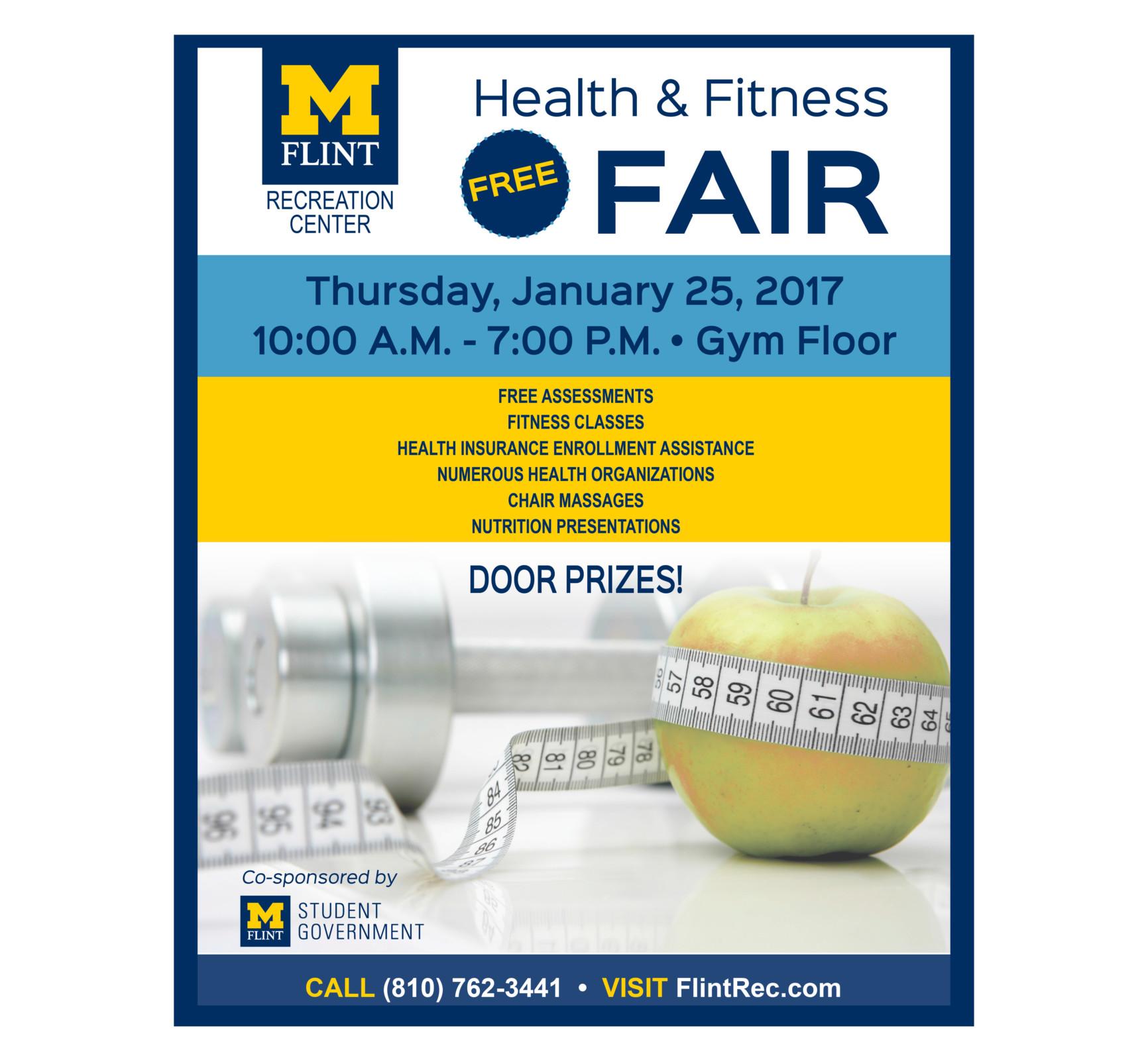 FREE fitness testing, classes, massage, etc.