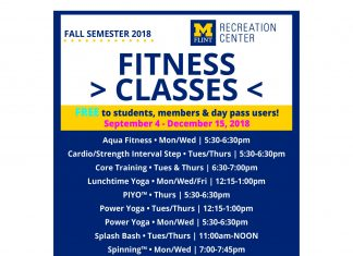 FREE fitness classes for students
