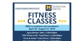 Spring and Summer 2019 Fitness Classes