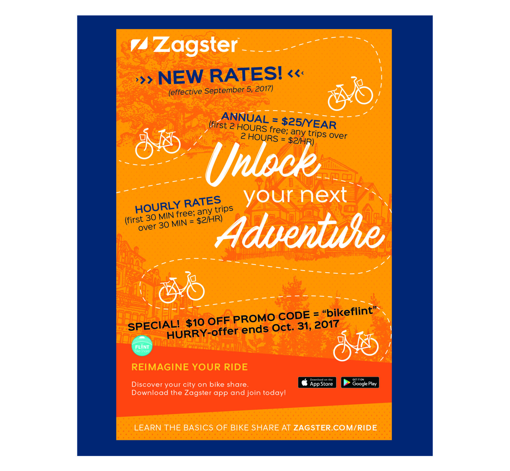 Zagster® Flint Bike Share Program