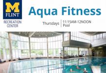 Aqua Fitness, Thursdays, 11:15 AM - 12 NOON