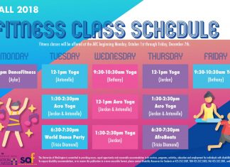 Fall Fitness Schedule