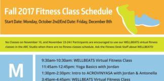 Fall 2017 Fitness Class Schedule