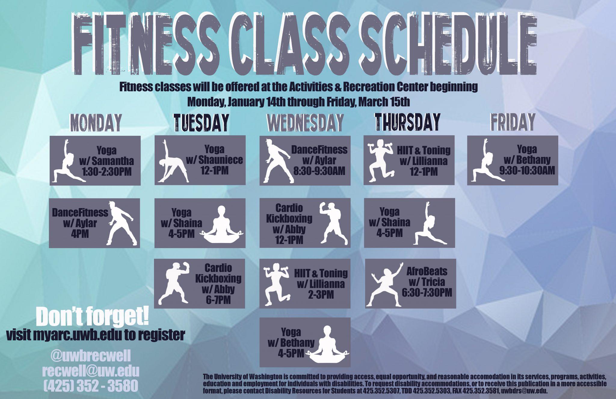 Winter Fitness classes