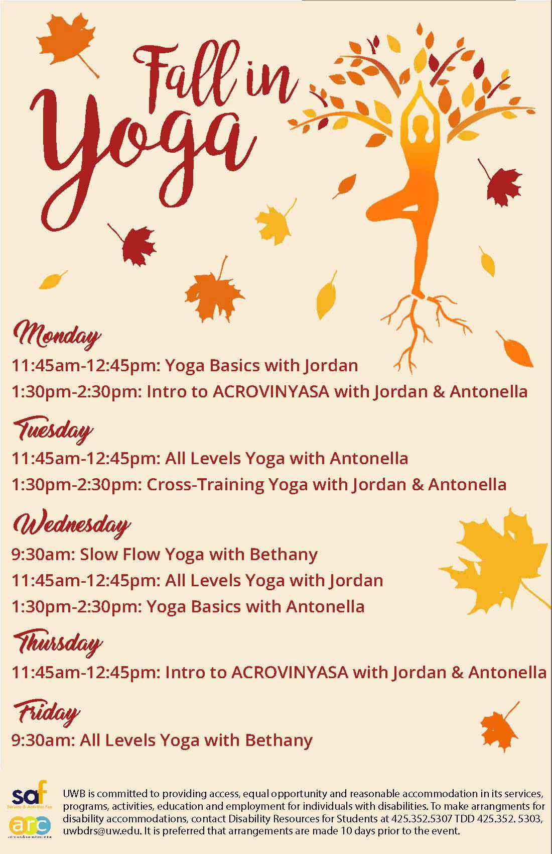 Fall in yoga