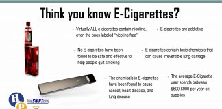 You may want to again about e-cigs