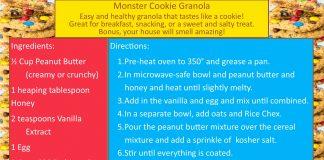 Monster Cookie Granola