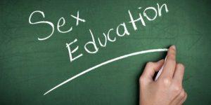 sex education written on chalkboard