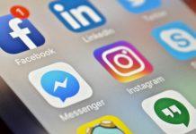 social media apps on smart phone screen