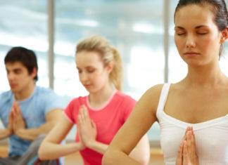 Young adults Meditating
