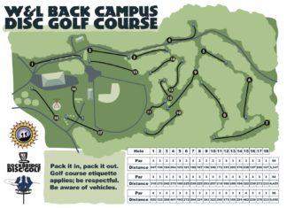 W&L Back College Disc Golf Course