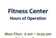 Fitness Center Hours