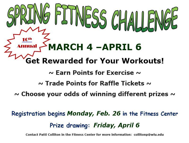 Fitness Center Spring Challenge