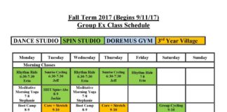 Group Exercise Fall 2017