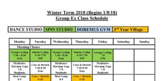 Group Exercise Witner 2018