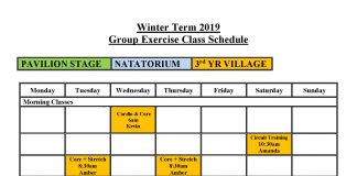 Group Exercise Winter 2019